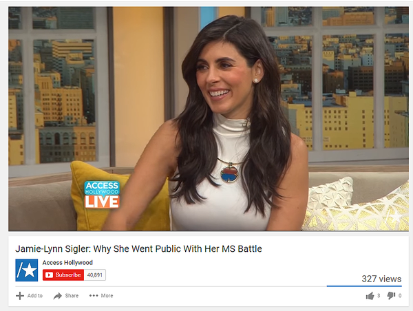 Jamie-Lynn Sigler on Access Hollywood wears Sunset Choker by Sarah Magid Jewelry