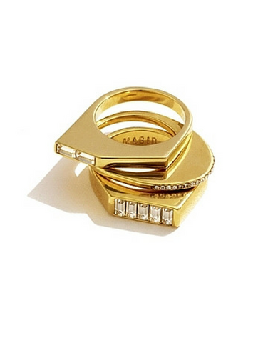 Collage Stack Ring Set by Sarah Magid Jewelry