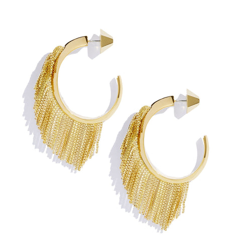 Electric Fringe Hoops