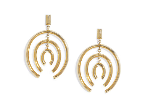 GOLD MOBILE HOOPS