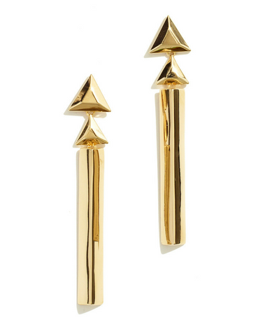 Gold Ingot Bar Drops by Sarah Magid Jewelry