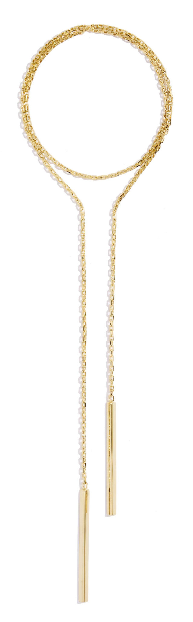 Gold Ingot Lariat by Sarah Magid Jewelry