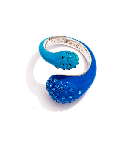 CANDY DROP RING BLUE NEON