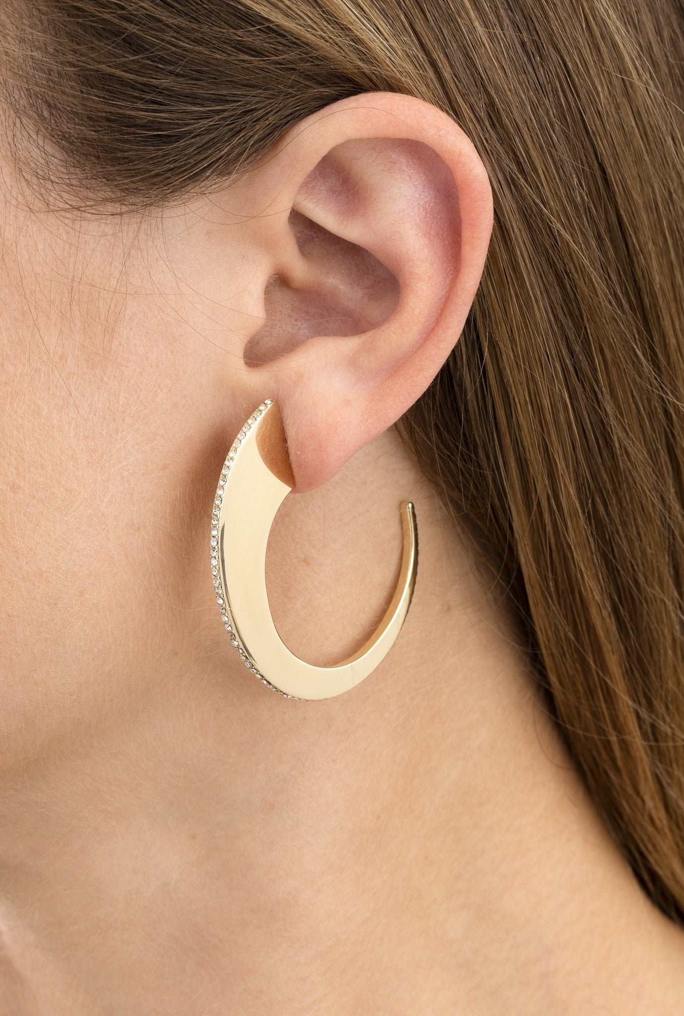 Gold Slice Hoop by Sarah Magid Jewelry