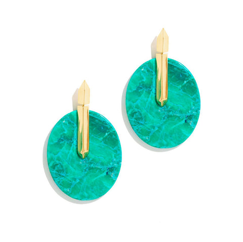 TURQUOISE FLOATING EARRINGS