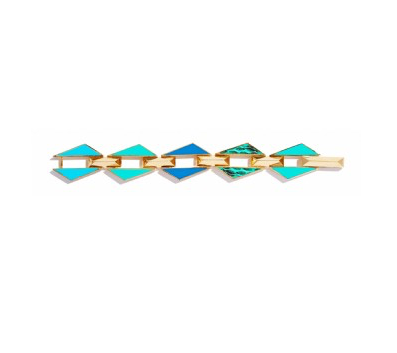 TURQUOISE COLLAGE BRACELET
