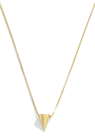 Mini Cone Gold Pendant by Sarah Magid Jewelry
