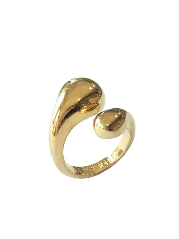 Gold Double Drop Ring