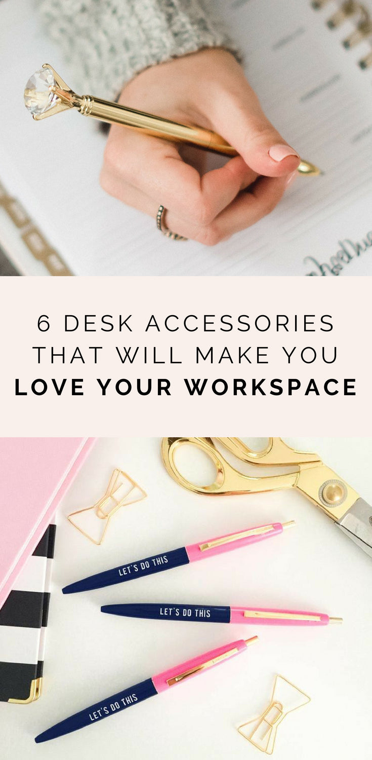 6 Desk Accessories That Will Make You Love Your Workspace | Sweet Water Decor Blog
