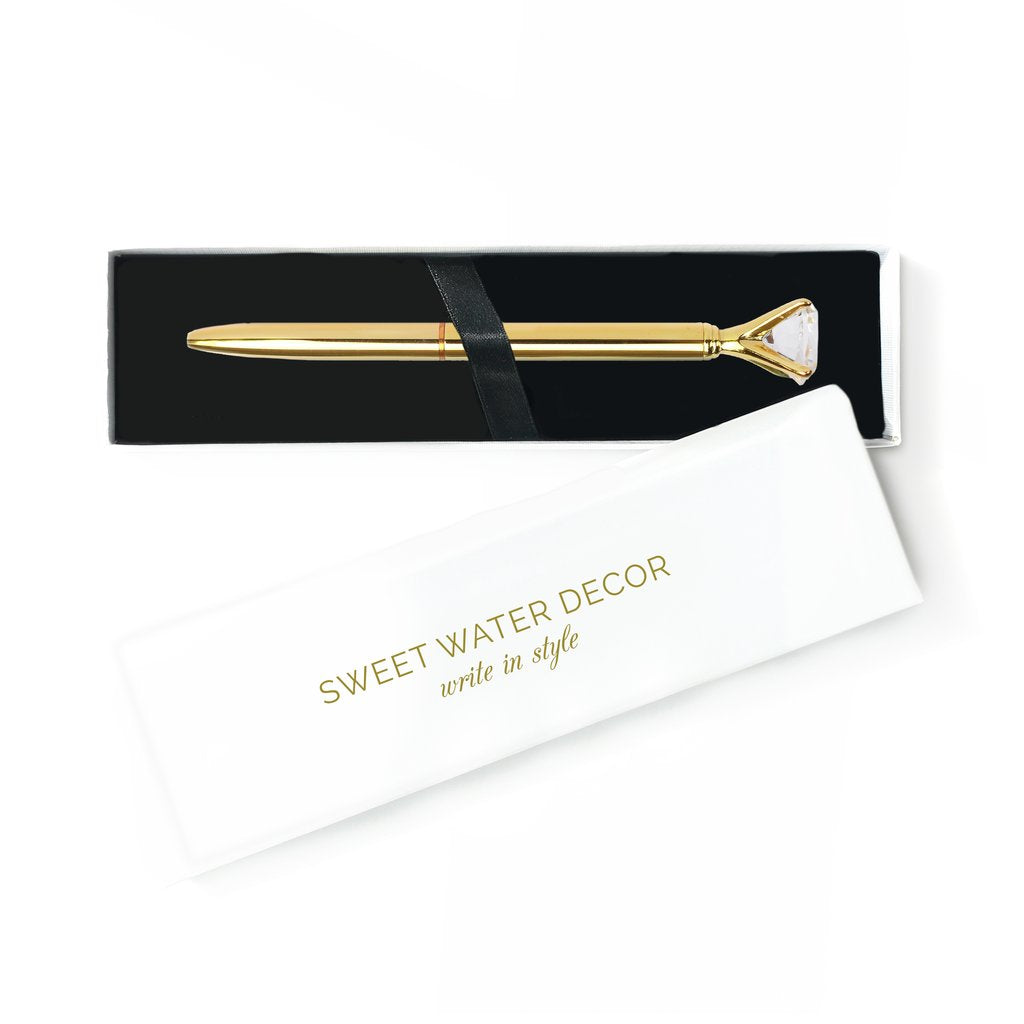 Gold Diamond Top Pen