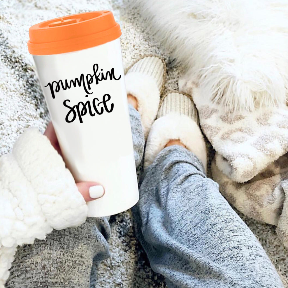Pumpkin Spice Travel Mug | Sweet Water Decor