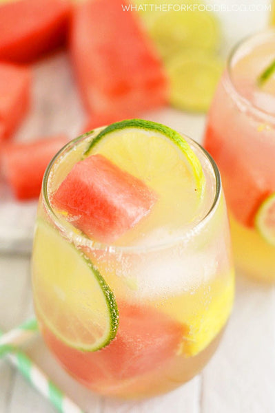 Summer Sangria with Watermelon and Pineapple by What the Fork Food Blog