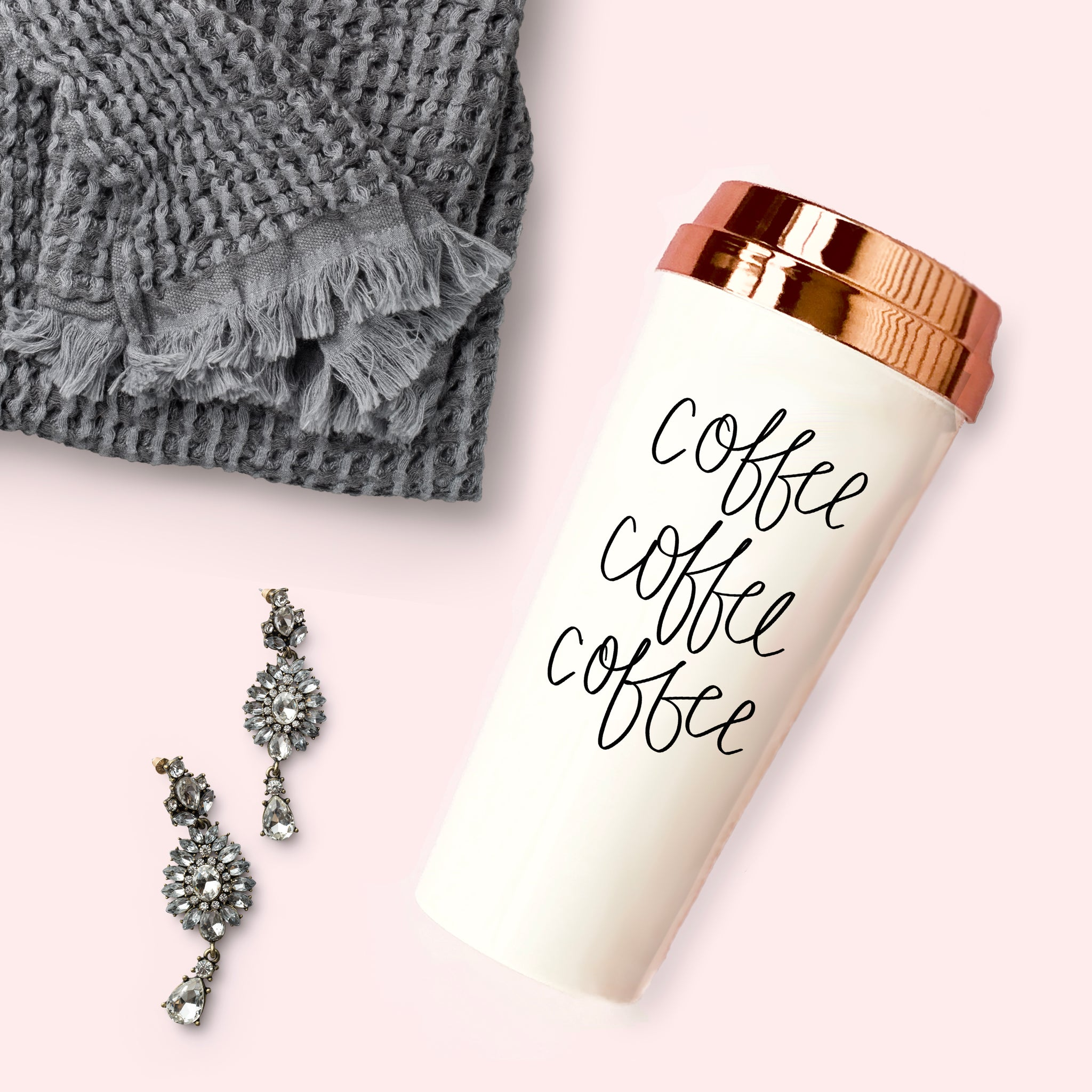 COFFEE COFFEE COFFEE TRAVEL MUG | SWEET WATER DECOR
