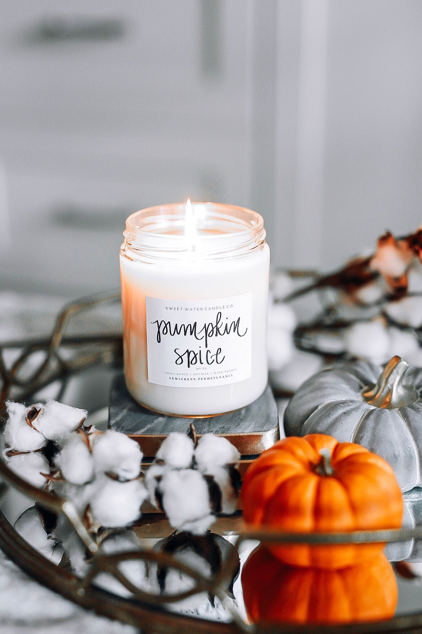 Pumpkin Spice Soy Candle | Sweet Water Decor