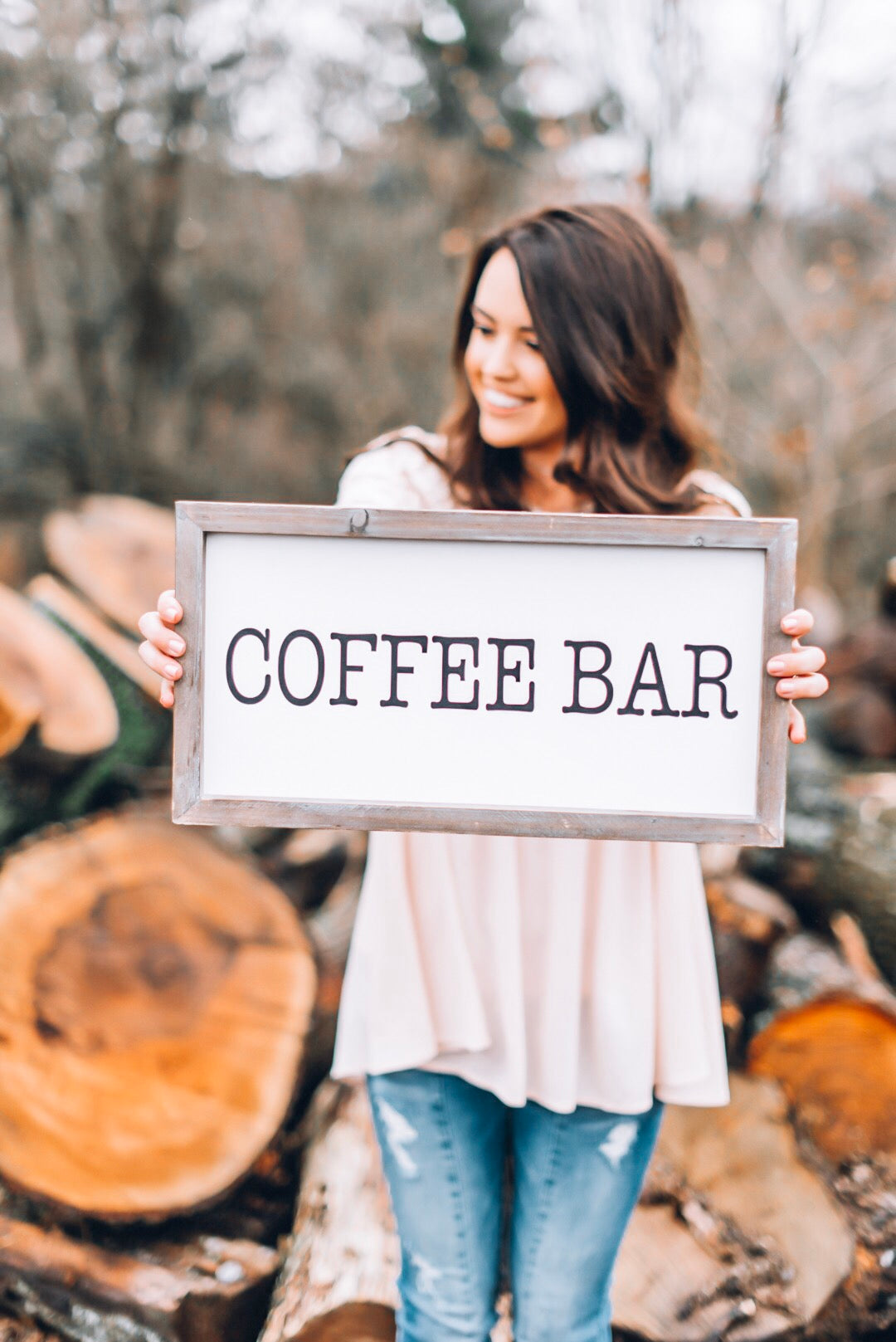 Coffee Bar Wood Sign