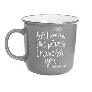 For I Know The Plans Jeremiah 29:11 Scripture Campfire Coffee Mug - Sweet Water Decor - Coffee Mugs - farmhouse decor