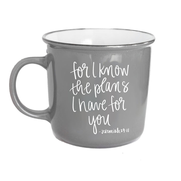 For I Know The Plans Jeremiah 29:11 Scripture Campfire Coffee Mug