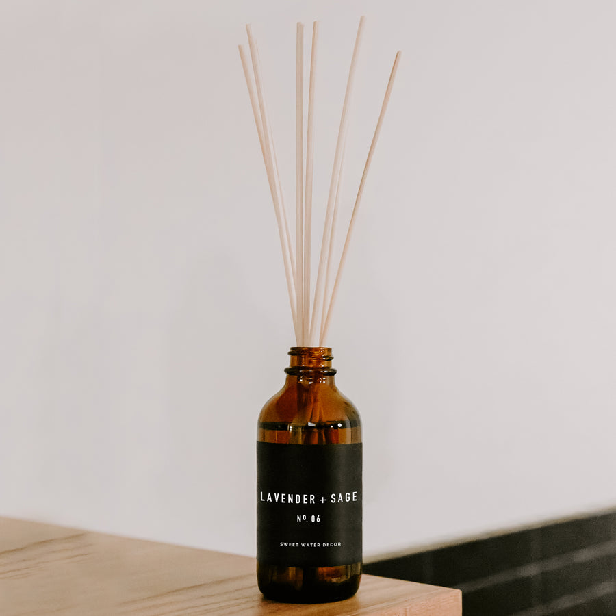 Lavender and Sage Reed Diffuser | Amber