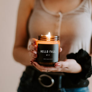 Hello Fall Soy Candle | Amber Jar Candle