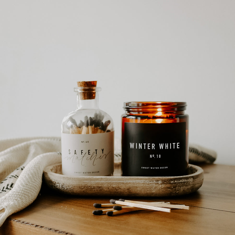 Winter White Soy Candle | Amber Jar Candle