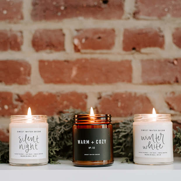 Silent Night Soy Candle 1