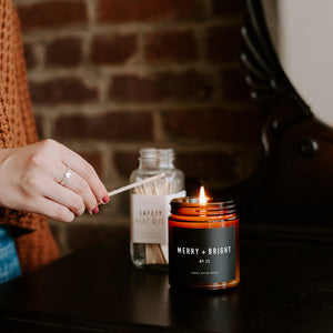 Merry and Bright Soy Candle | Amber Jar Candle