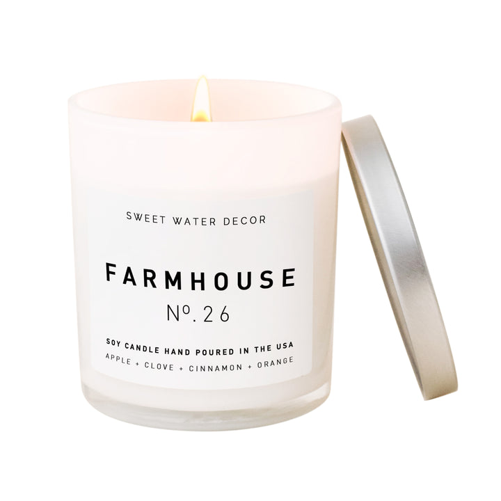 Farmhouse Soy Candle | White Jar Candle