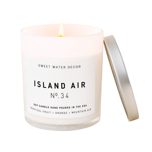 Island Air Soy Candle   White Jar Candle