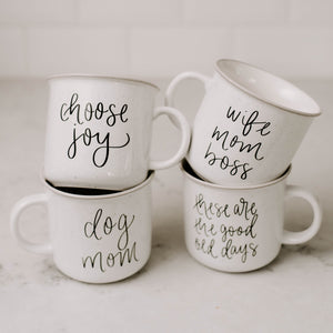 Choose Joy Rustic Campfire Coffee Mug
