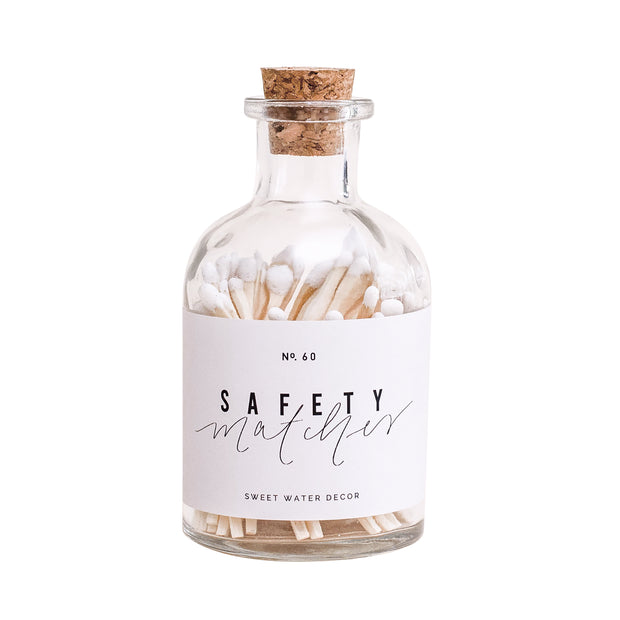 White Small Safety Matches - Apothecary Jar 1