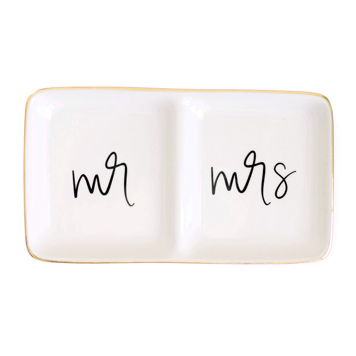 Mr and Mrs Jewelry Dish
