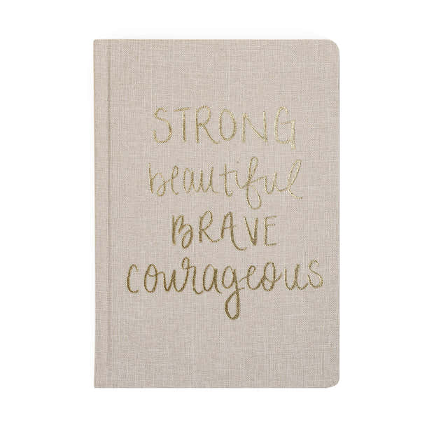 Strong Beautiful Brave Courageous Fabric Journal 1