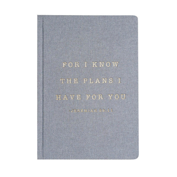 For I Know The Plans I Have For You Jeremiah 29:11 Fabric Journal 1
