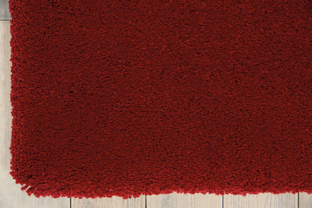 Calvin Klein Brooklyn Burgundy Shag Area Rug by Nourison