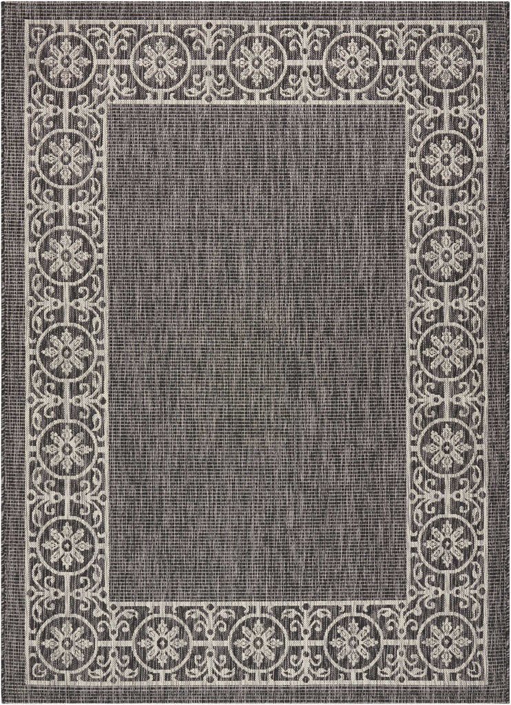 Country Side Charcoal Indoor/Outdoor Area Rug
