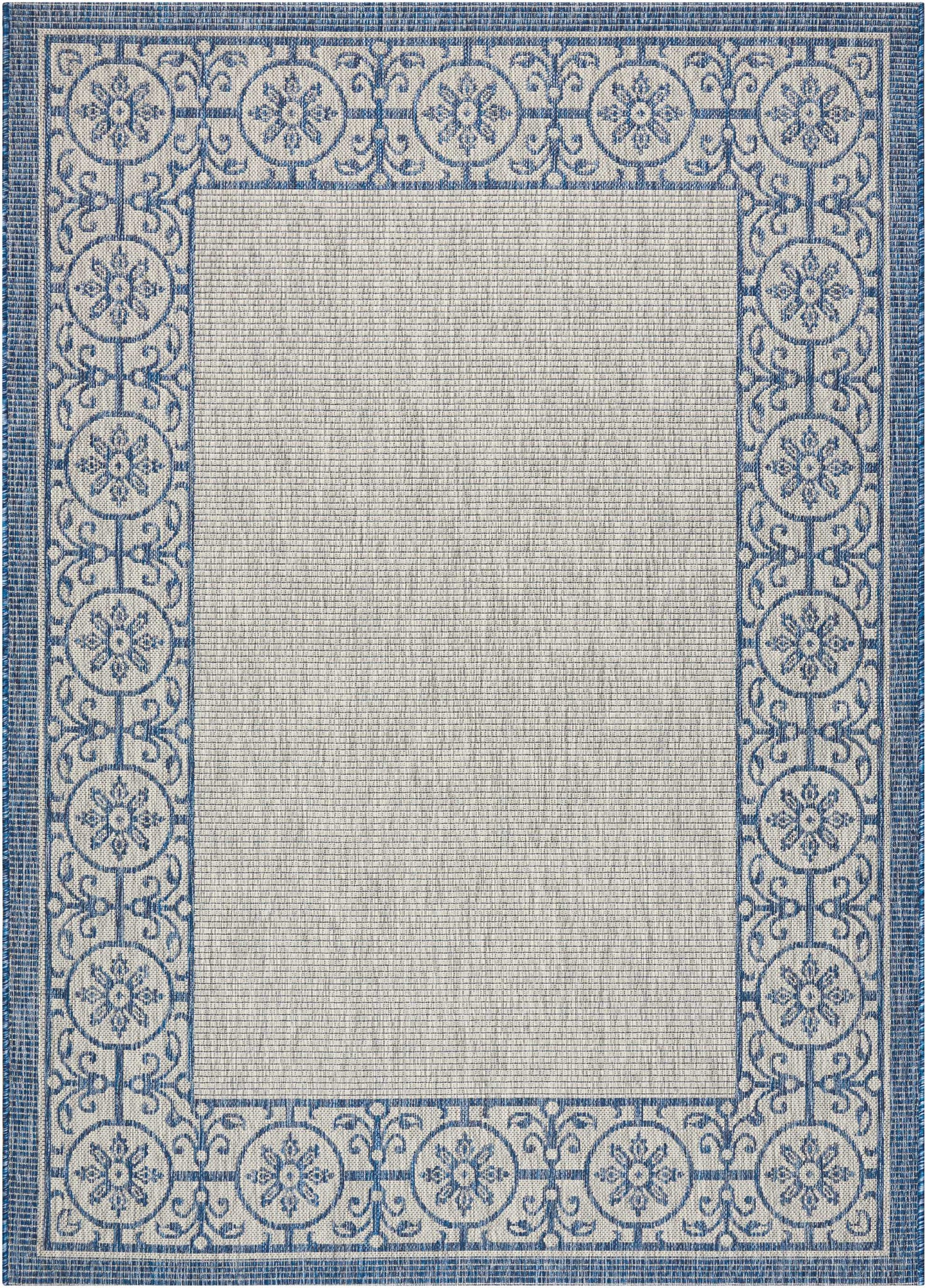 country side ivory blue indoor outdoor area rug the rug gallery