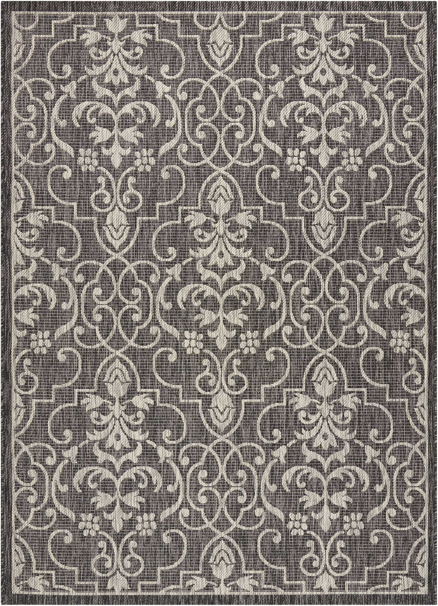 country side charcoal indoor outdoor area rug the rug gallery