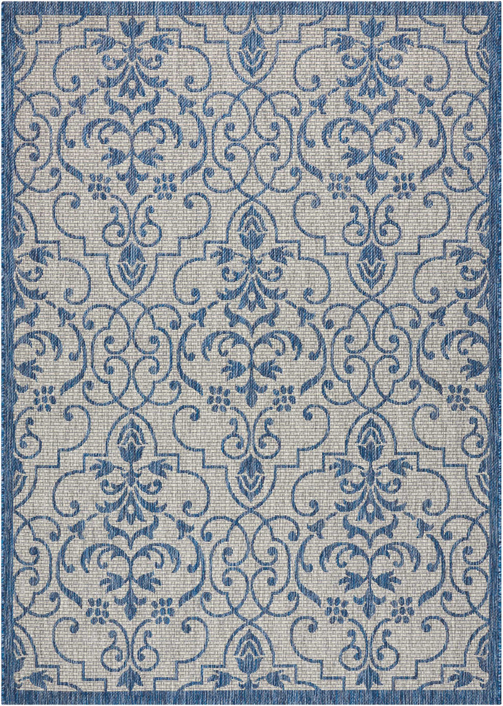 Country Side Ivory Blue Indoor/Outdoor Area Rug