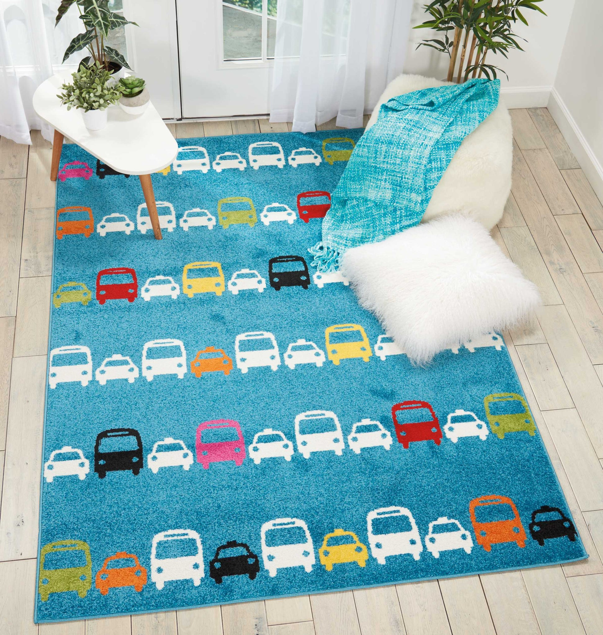 Nourison Miles Blue Kids Area Rug