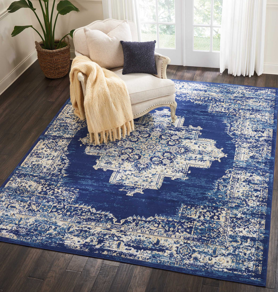 Nourison Grafix Navy/Blue Area Rug