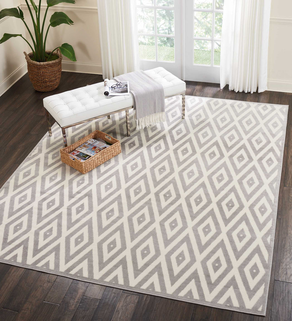 Nourison Grafix White/Grey Area Rug