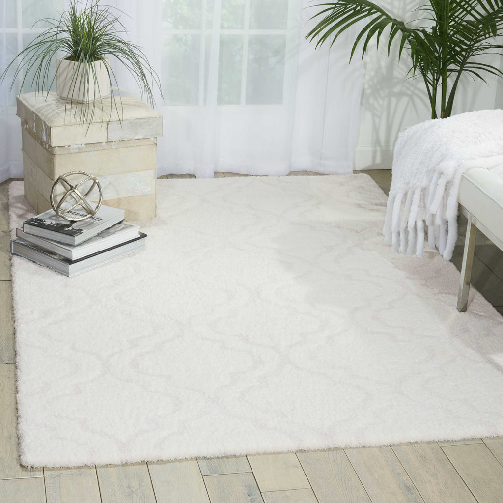 Kathy Ireland Light & Airy White Shag Area Rug by Nourison