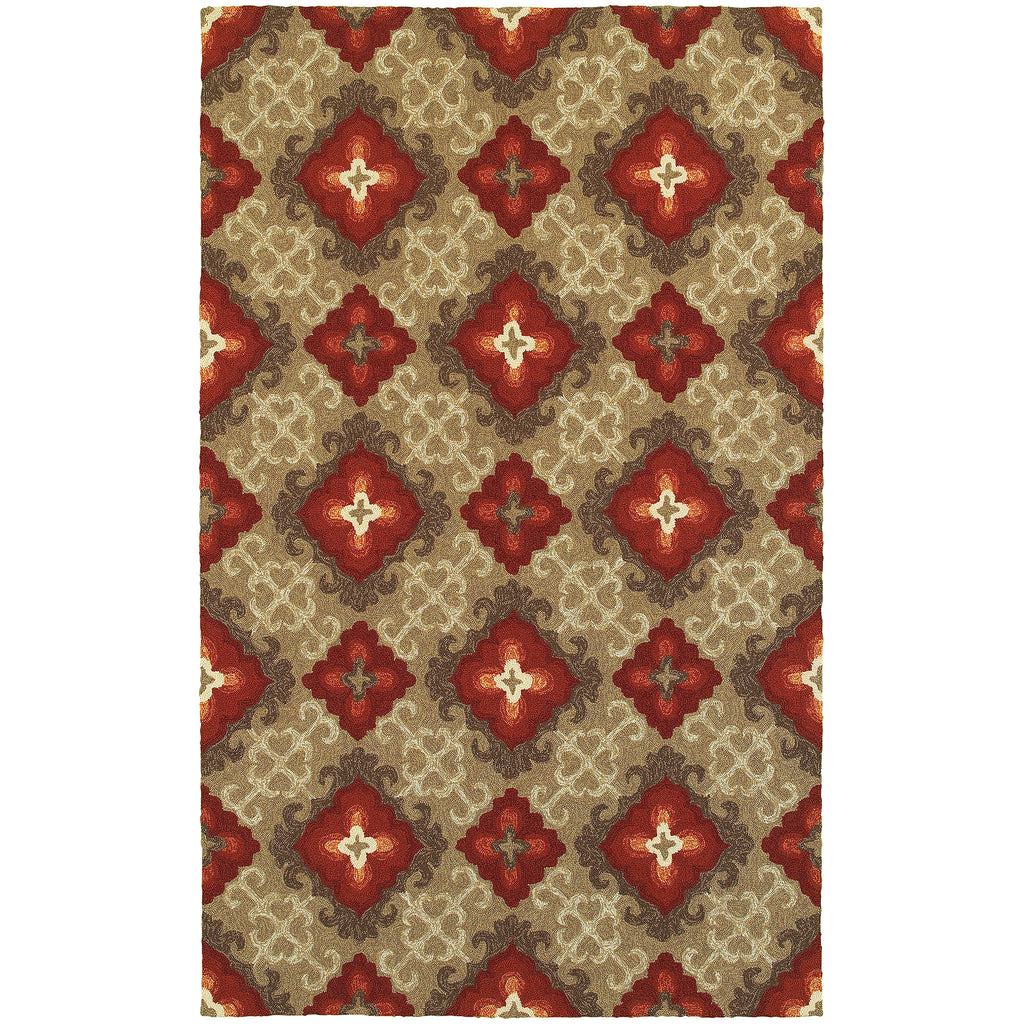 Tommy Bahama Atrium Brown/ Red