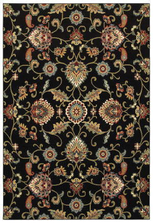 Kashan Black/ Multi