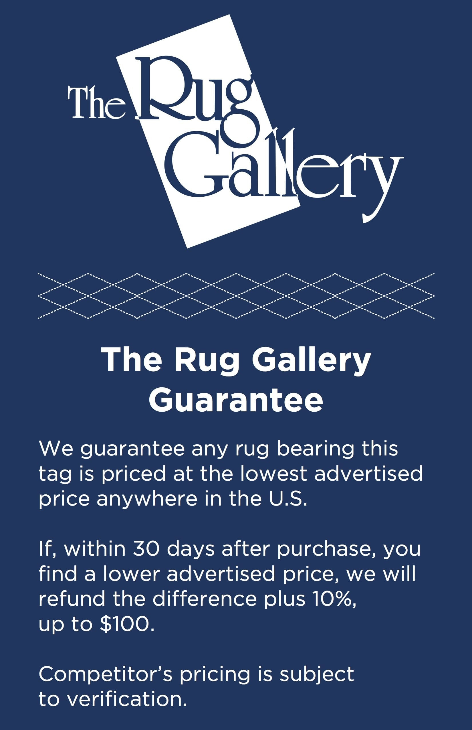 Rug Gallery Guarantee
