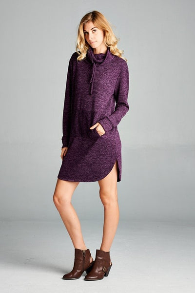 Hacci Sweater Pocket Dress - 2 colors!