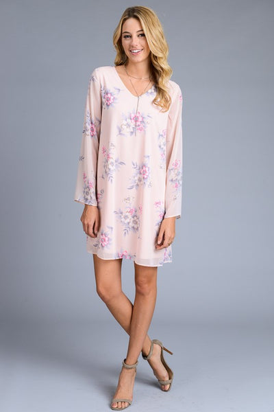 Chiffon Floral Print Dress - 2 colors!