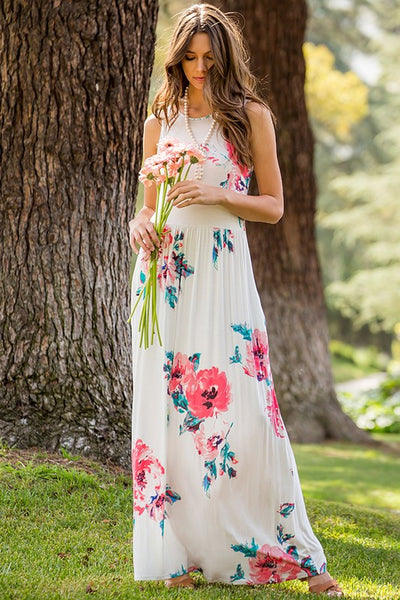 Floral Print Maxi Dress - 2 colors! (Available in XL)