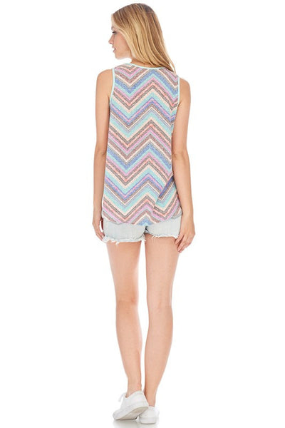 Blush Chevron Tank