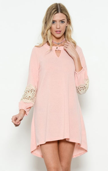 Peach Sweater Knit Dress